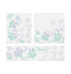 Floral Layouts Set vector image vector image