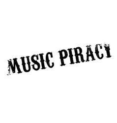 music piracy rubber stamp vector image vector image