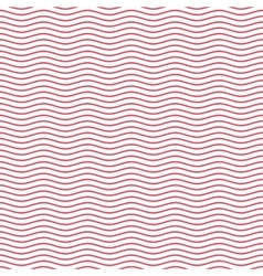 Red seamless wavy line pattern vector image vector image