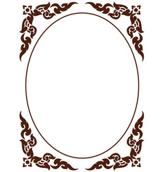 artistic octagon frame of thai pattern vector image