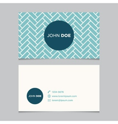 business card pattern blue 10 vector image vector image