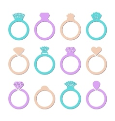 Engagement or wedding ring vector