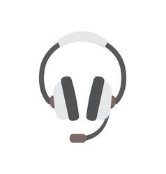 flat design of headphones vector image