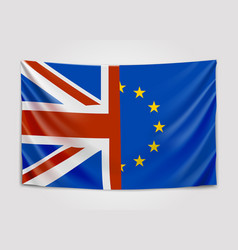 Hanging flag of the united kingdom and the vector
