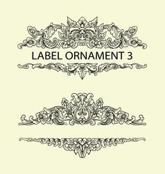 Label ornament 3 vector image vector image