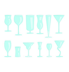 restaurant drink glasses vector image