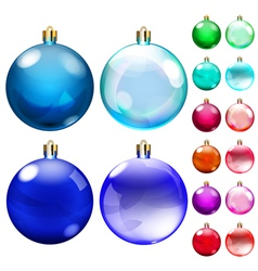 Set of opaque colored Christmas balls vector image vector image