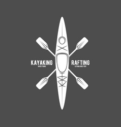 vintage rafting labels vector image