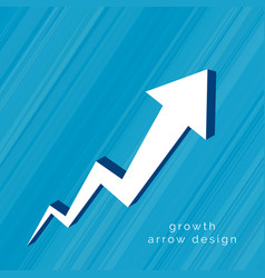3d arrow moving upward design vector