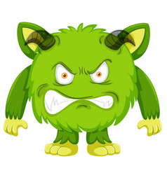 a green monster character vector image