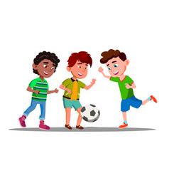 afro american european and asian boys play vector image