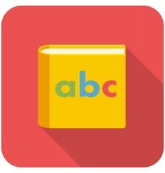 Alphabet book icon vector