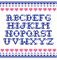 alphabet template knitwear seamless winter vector image