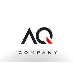 Aq logo letter design vector