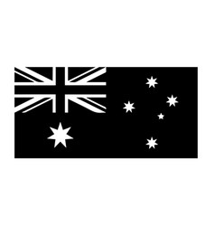 Australia flag black and white country national vector