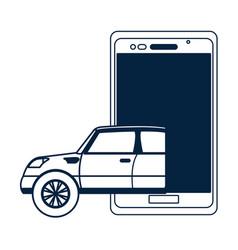 autonomus car technology vector image