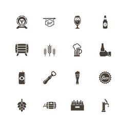 beer - flat icons vector image