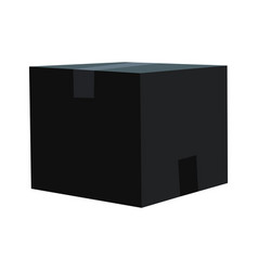 black box with a closed lid on a white background vector image