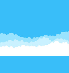 blue cartoon sky background cloud flat blue sky vector image