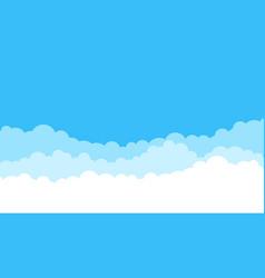 blue cartoon sky background cloud flat sky vector image