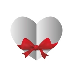 Bowtie Heart shape icon Love design vector