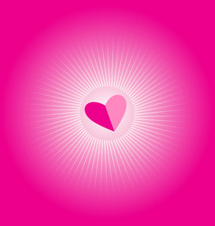 bright pink festive background with hearts and vector image