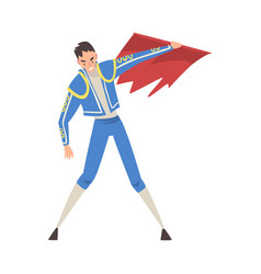 Bullfighter toreador character dressed in costume vector