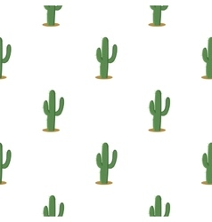 Cactus icon cartoon Singe western icon from the vector
