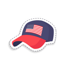 cap having image flag vector image