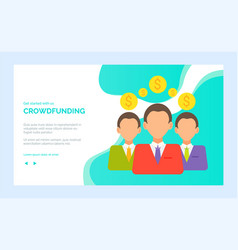 character in suit cash investment online vector image