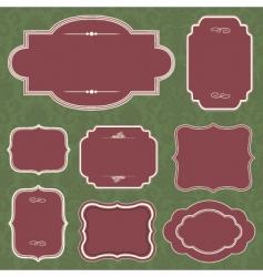 Christmas frame set vector image
