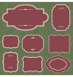 Christmas frame set vector image vector image