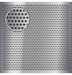 Chrome metal sheet surface with holes 10eps vector image