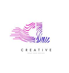 Cl c l zebra lines letter logo design with vector