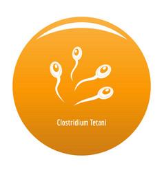 clostridium tetani icon orange vector image