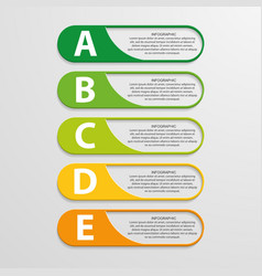 Colorful infographic design on the grey background vector