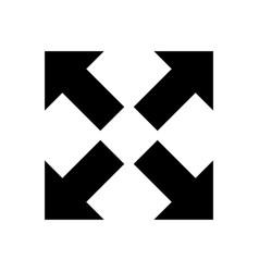 Cross arrow icon resize icon isolated vector