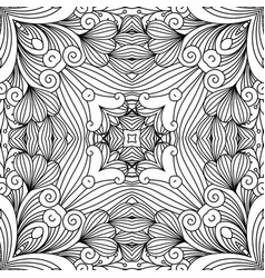 decorative zentangle swirl pattern vector image