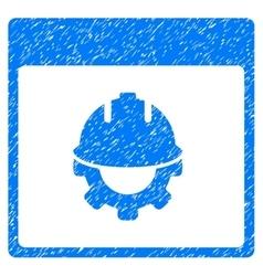 Development Calendar Page Grainy Texture Icon vector image