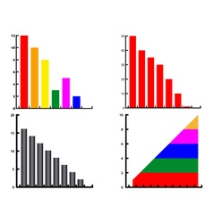 different diagrams vector image