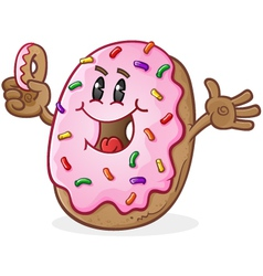 Donut Cartoon Character vector image