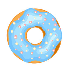 donut icon sweet doughnut tasty pastry vector image