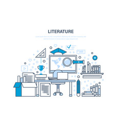 Educational and scientific literature research vector