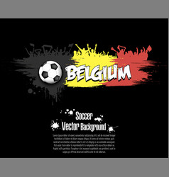 flag of belgium and football fans vector image