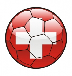 flag of Switzerland on soccer ball vector image