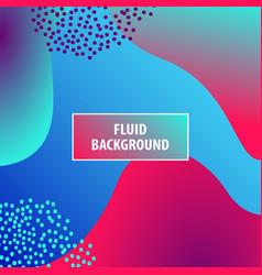 fluid colors shape on blue modern background vector image