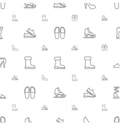 footwear icons pattern seamless white background vector image