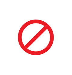 forbidden icon design template isolated vector image