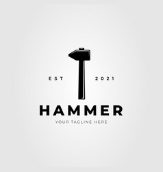 Forging hammer blacksmith isolated logo design vector