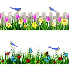 Green grass seamless vector